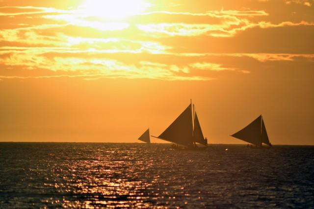 Solnedgång på Hwite Beach