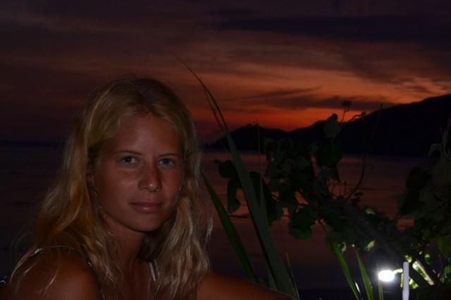 lombok kuta solnedgång