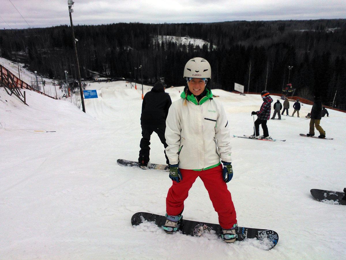 Snowboard i Talma