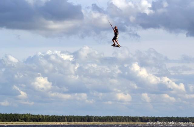 Kitesurfing hoppa
