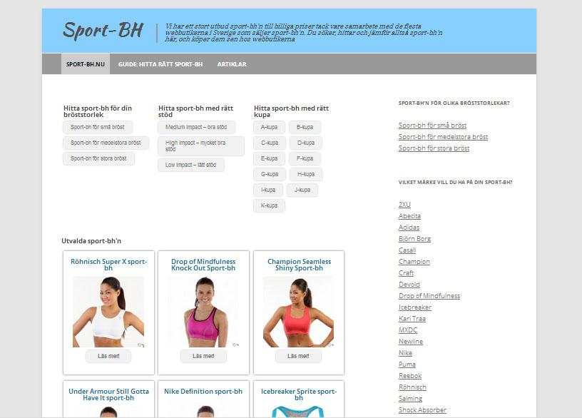 Sport-bh på nätet