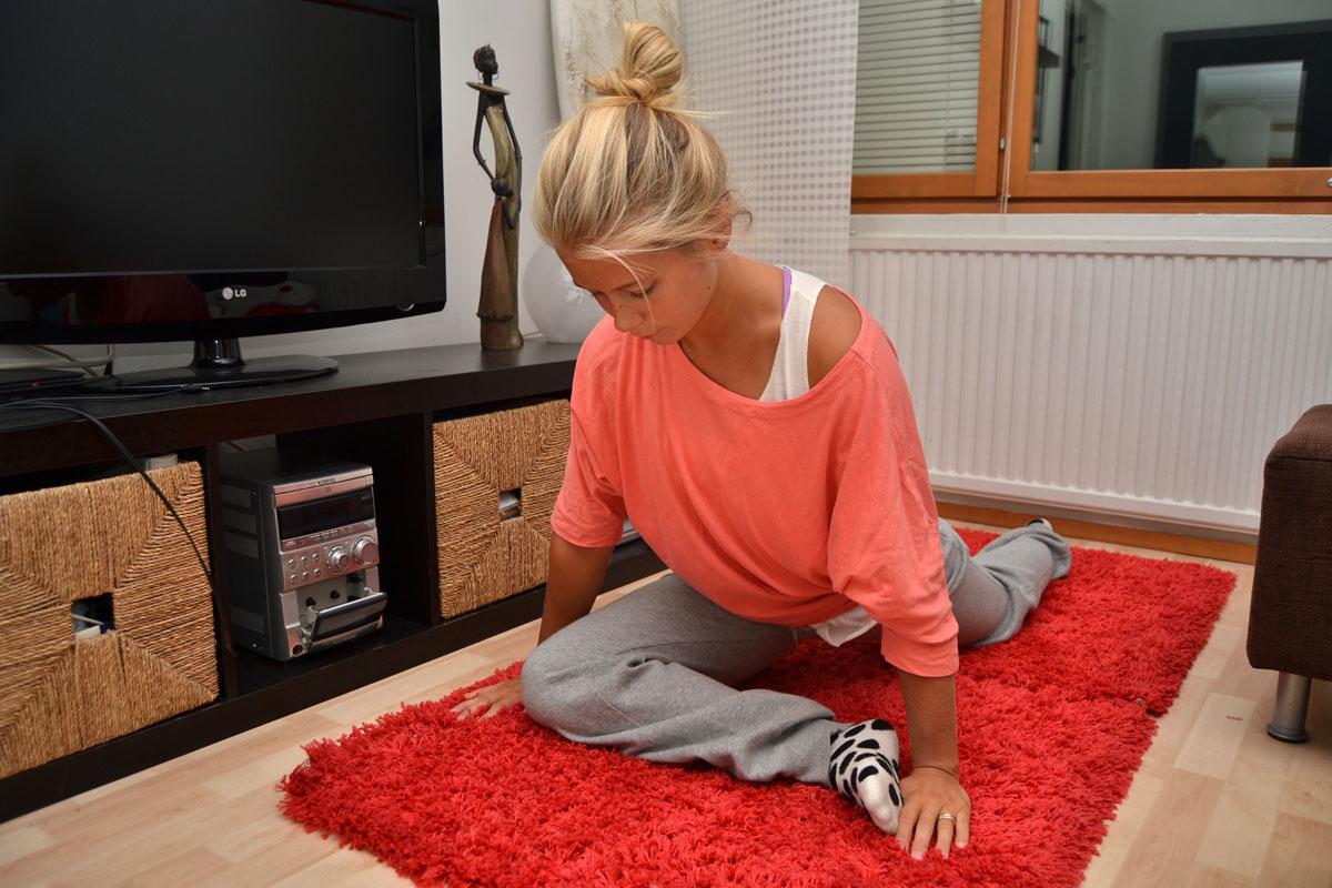 Veckans utmaning : Stretchning av benmuskler