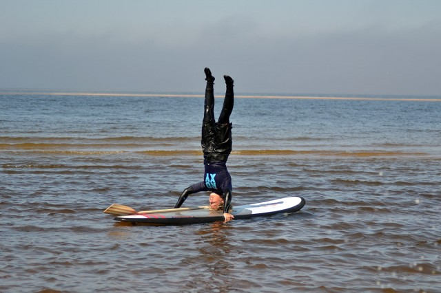 SUP stand up paddleboard yoga