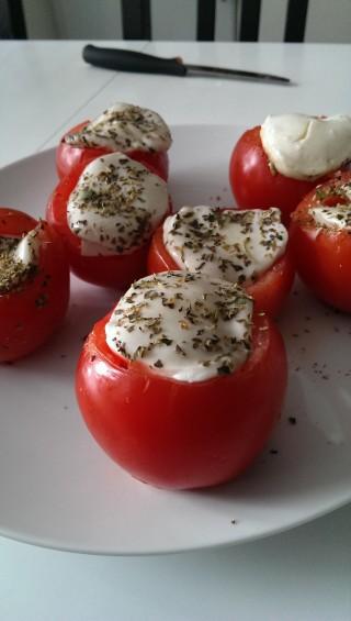 grillade tomater med fetaost
