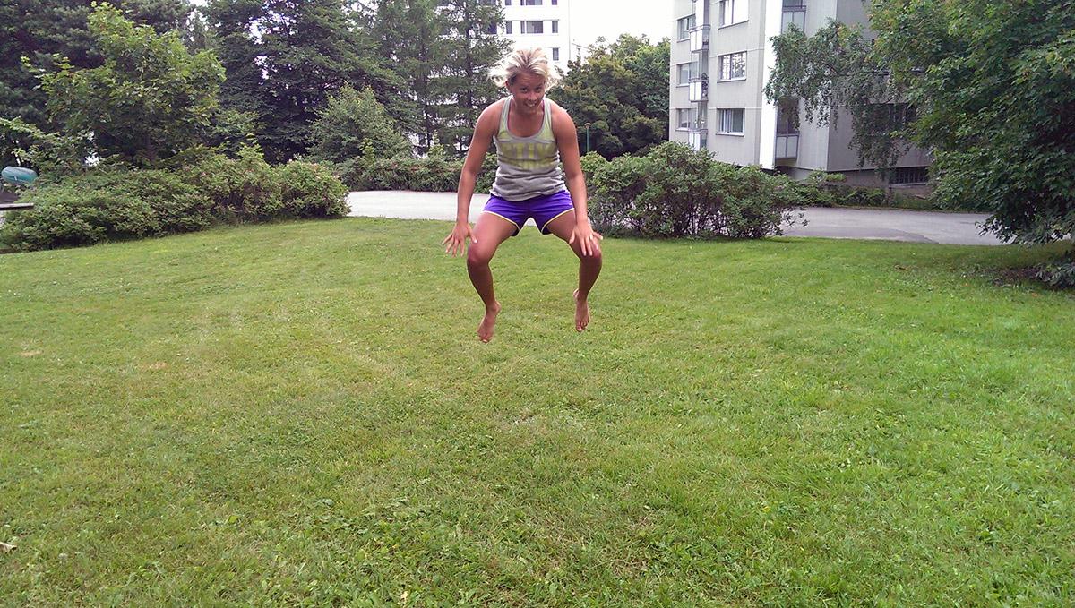 tuck-jump hopp