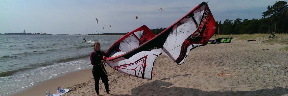 Kitesurfingintervjun uppe på nätet