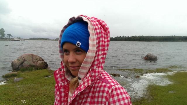 Kitesurfing i regn