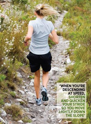 löpning nedförsbacke