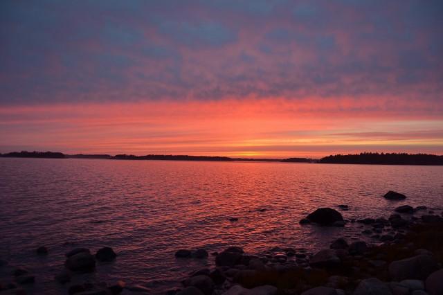 Solnedgång Drumsö