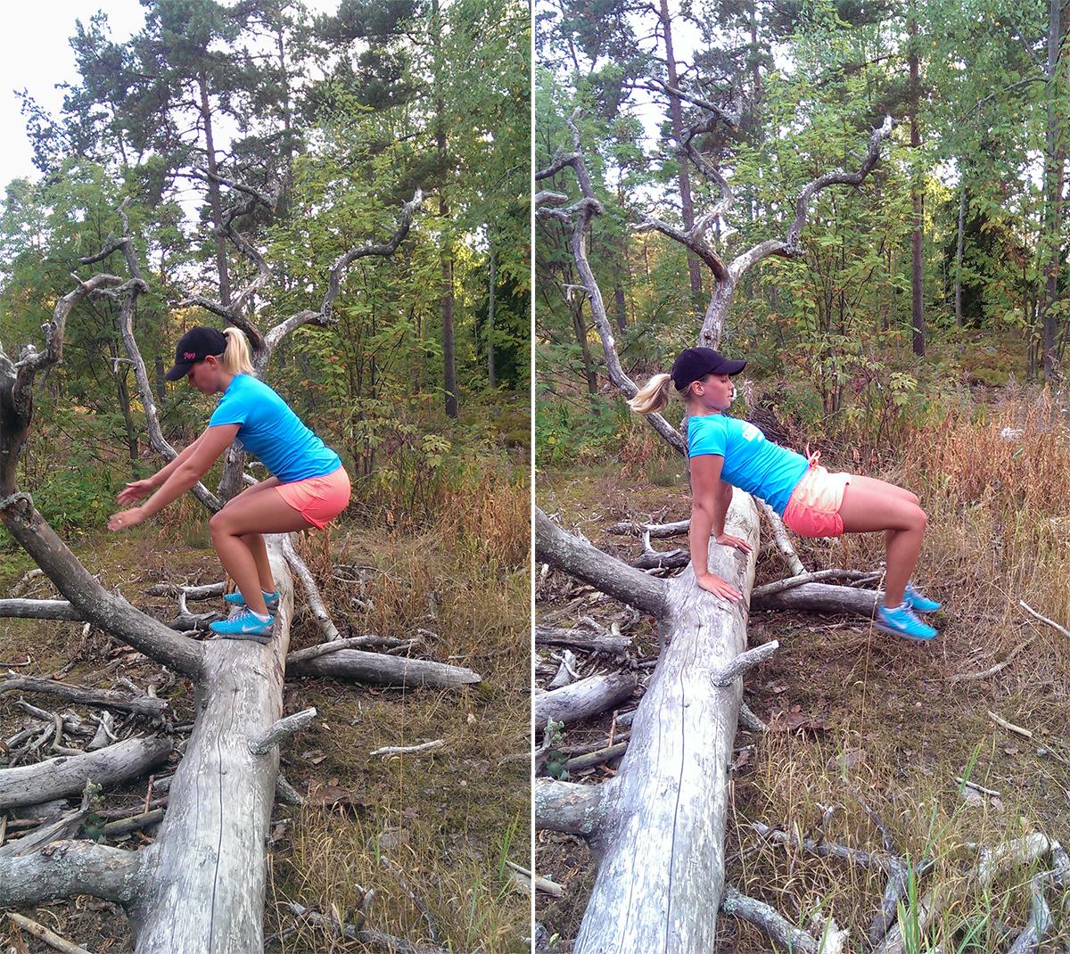 Träning ute i naturen