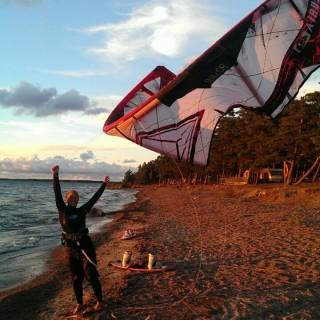 Kitesurfing i söndags