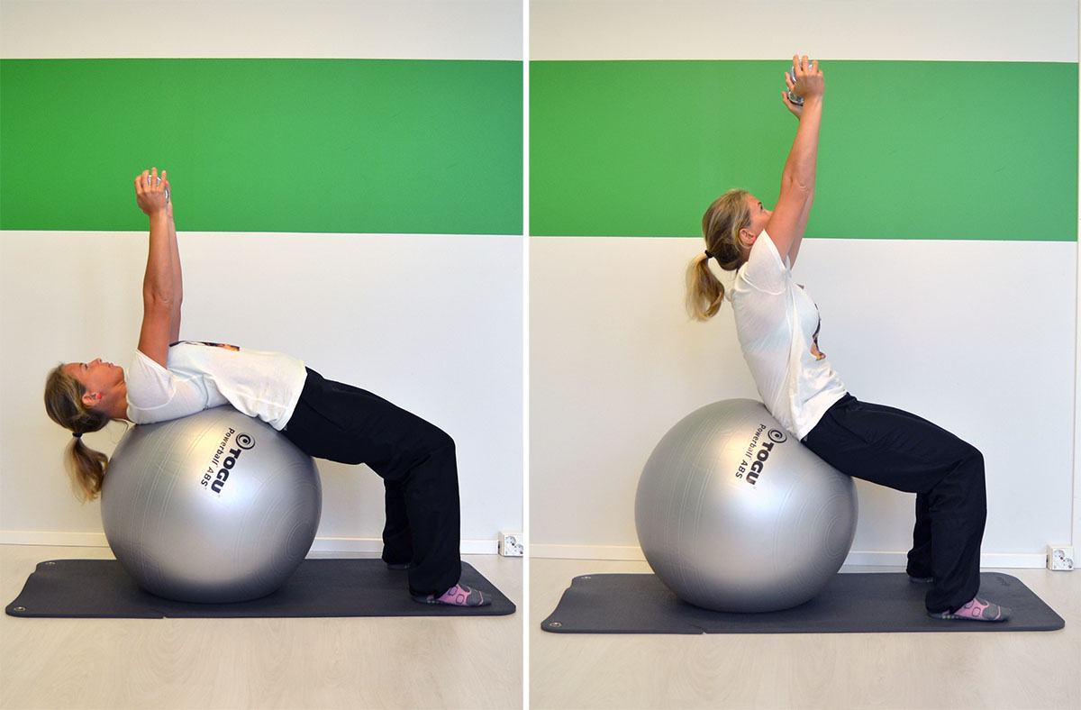 Topp 3 övningar med pilatesboll
