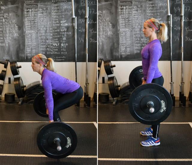 Programmet innehåller till största del övningar med skivstång - alla övningar sådana som tränar flera muskler tränas på samma gång - exempelvis olika knäböjsvarianter. Alla övningar som rekommenderas är supereffektiva övningar tycker jag!