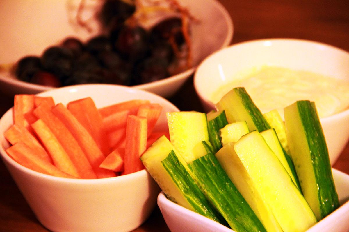 Grönsaker med dipp
