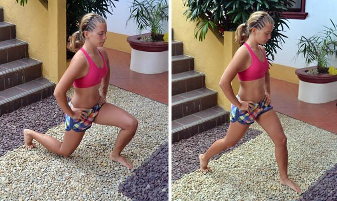 Veckans utmaning: Utfall för starka och snygga ben