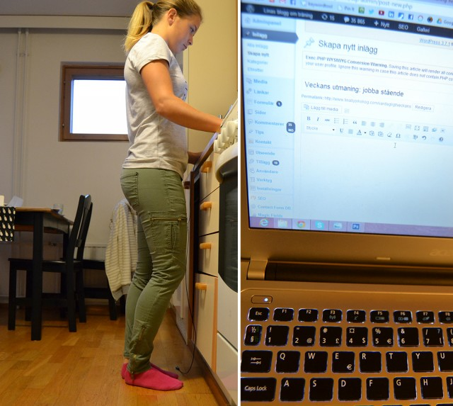 jobba stående ergonomi