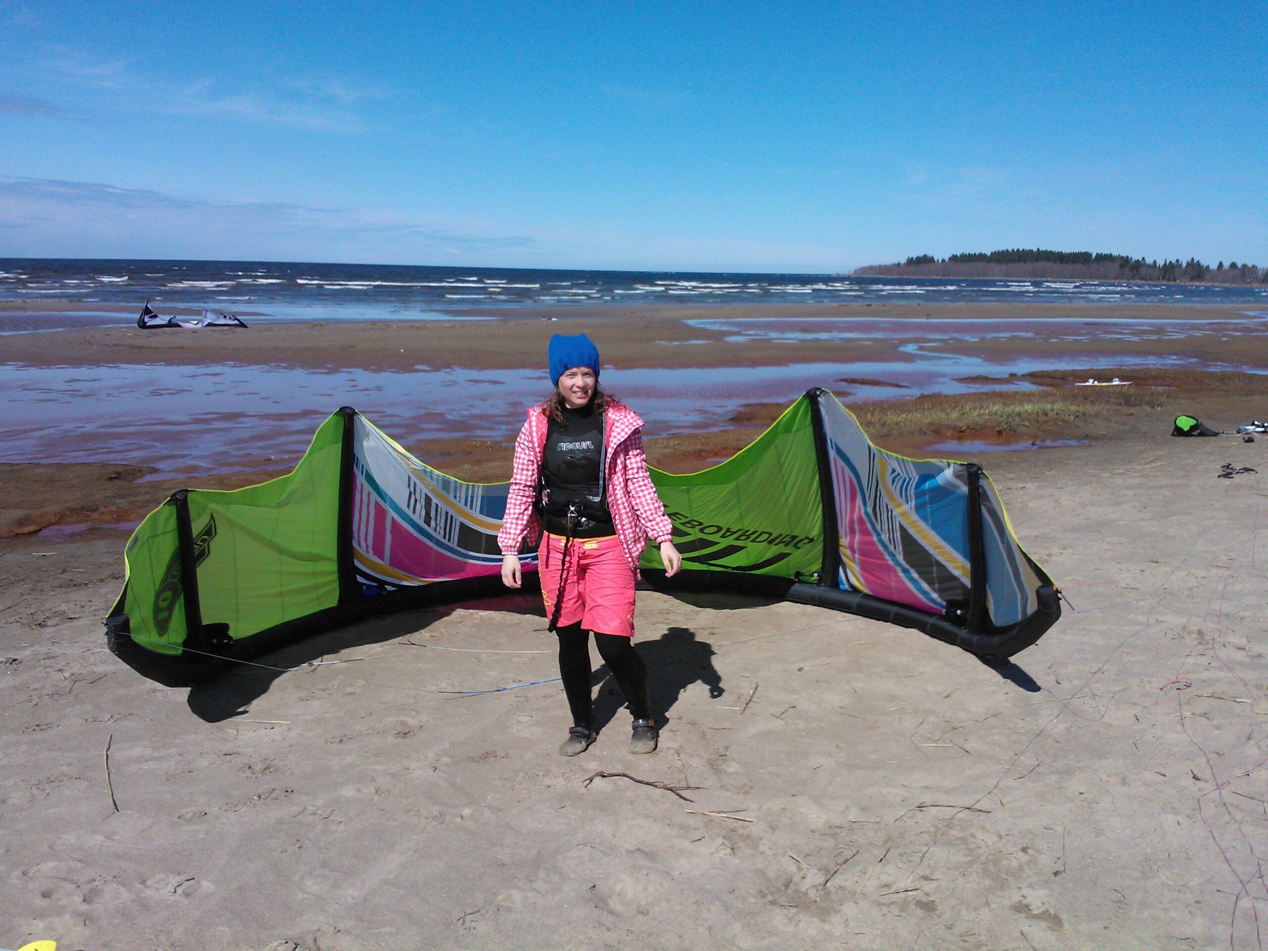 Kitesäsongsöppning i Storsand