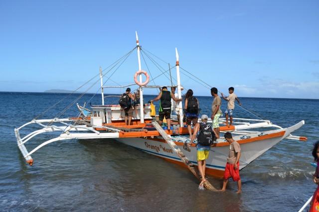 Våt båt till seco island