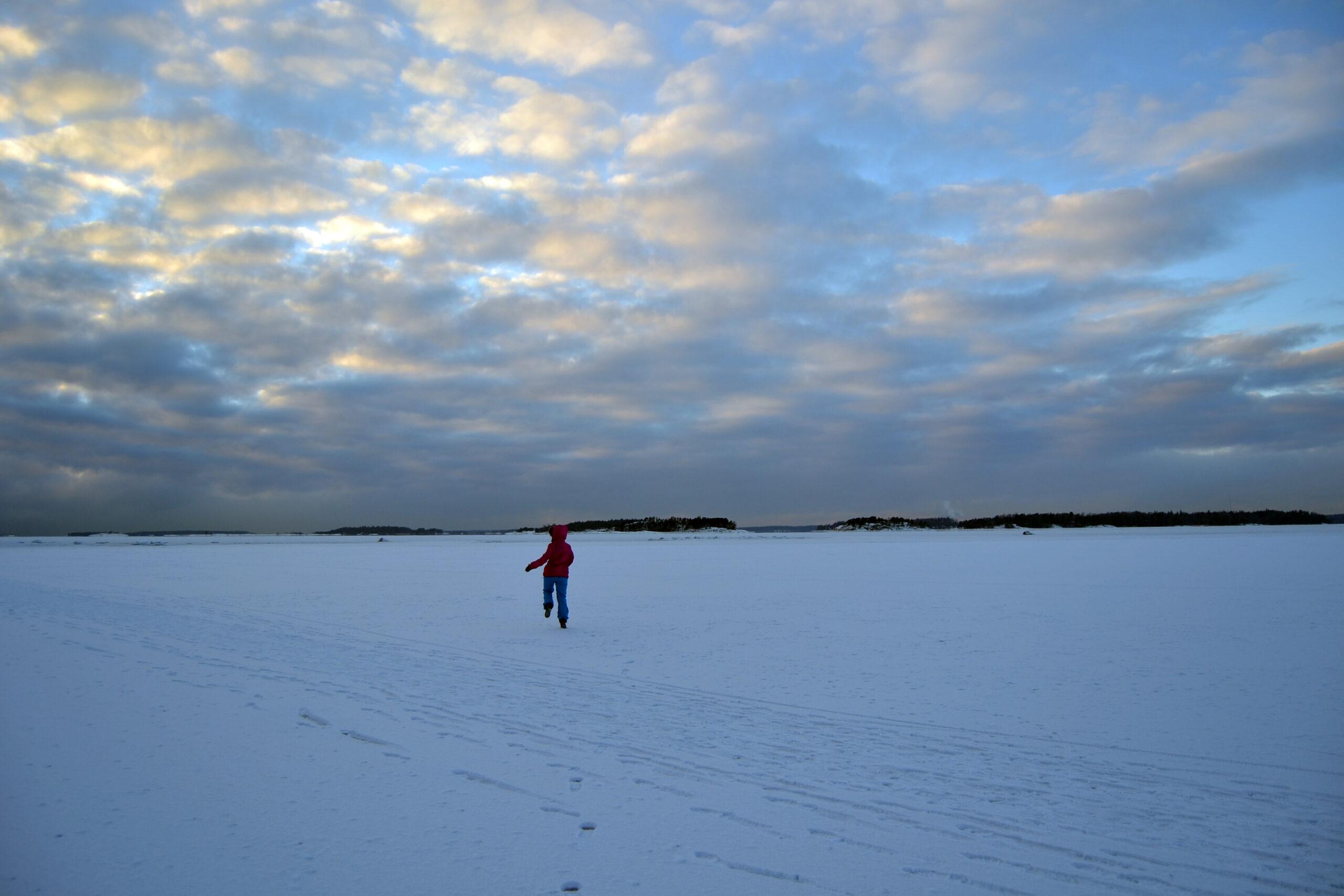 Promenad på isen i minus tretton