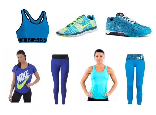 blå träningskläder