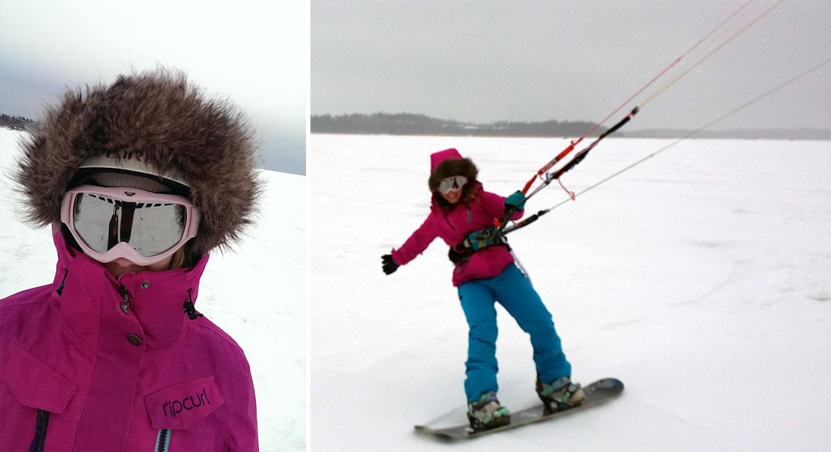Snowkite hela helgen lång