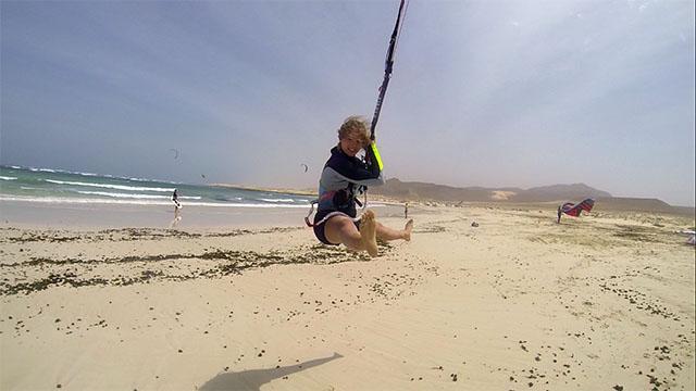 Uppvärmning kitesurfing