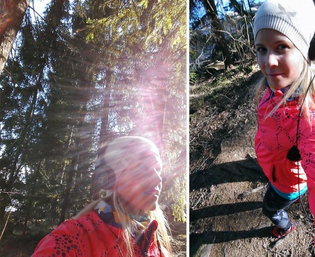 löpning i skog