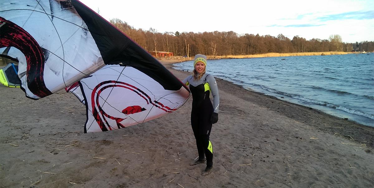 Kitesurfing och mycket träning