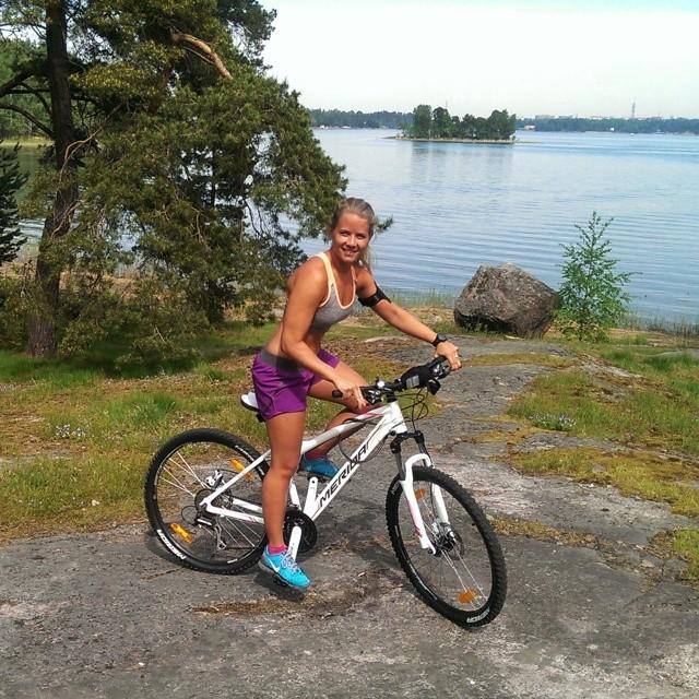 Cykling med ny mountainbike