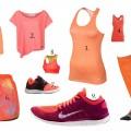 orange träningskläder