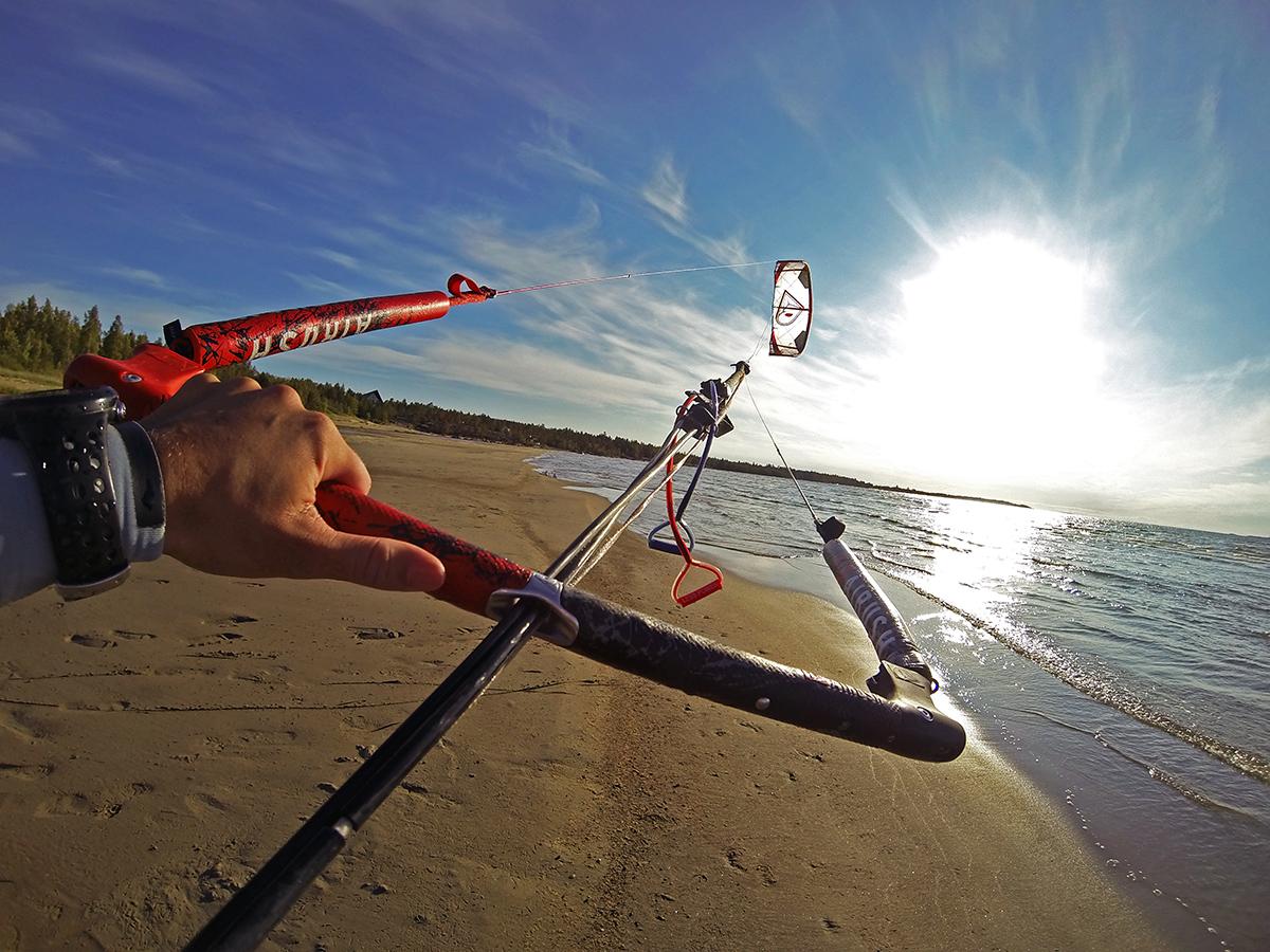 Solig söndag efter en blåsig kitesurfingvecka