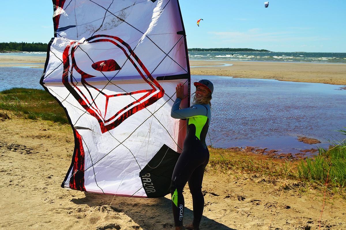 Stormsand kitesurfing