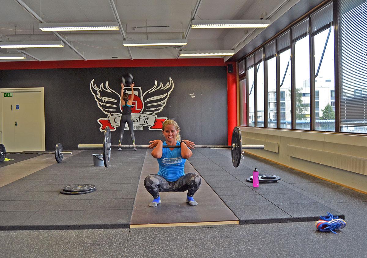Träning på mitt nya gym Crossfit Lauttsaari