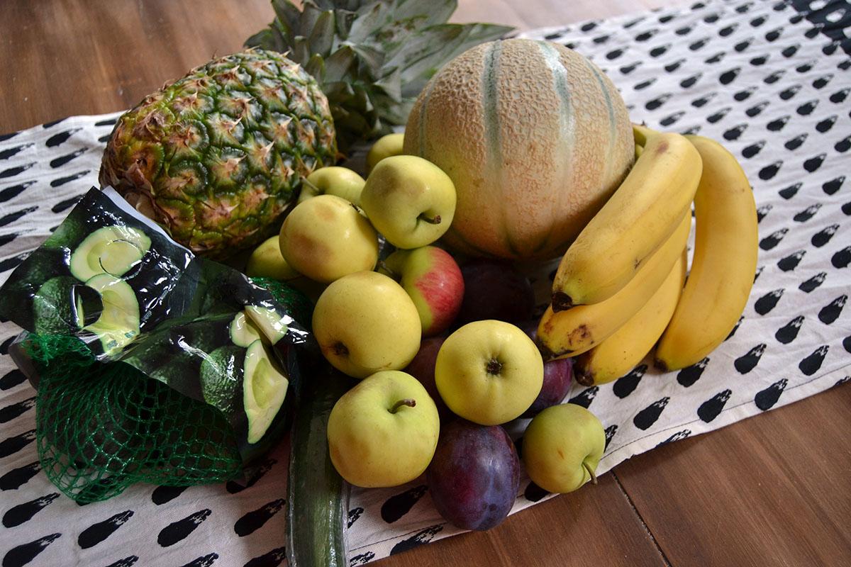 Billiga frukter och giftigt fönsterputs