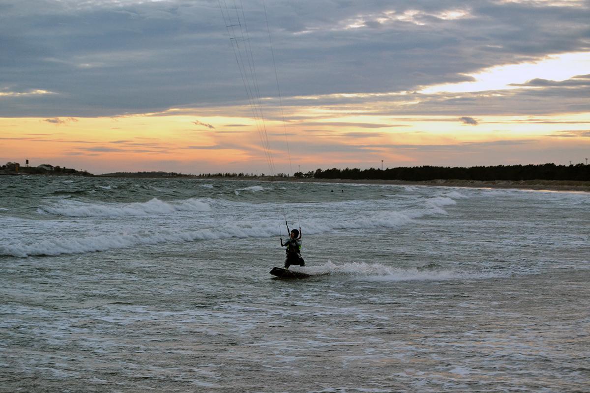 Kitesurfing, innebandy och konsert = härlig helg