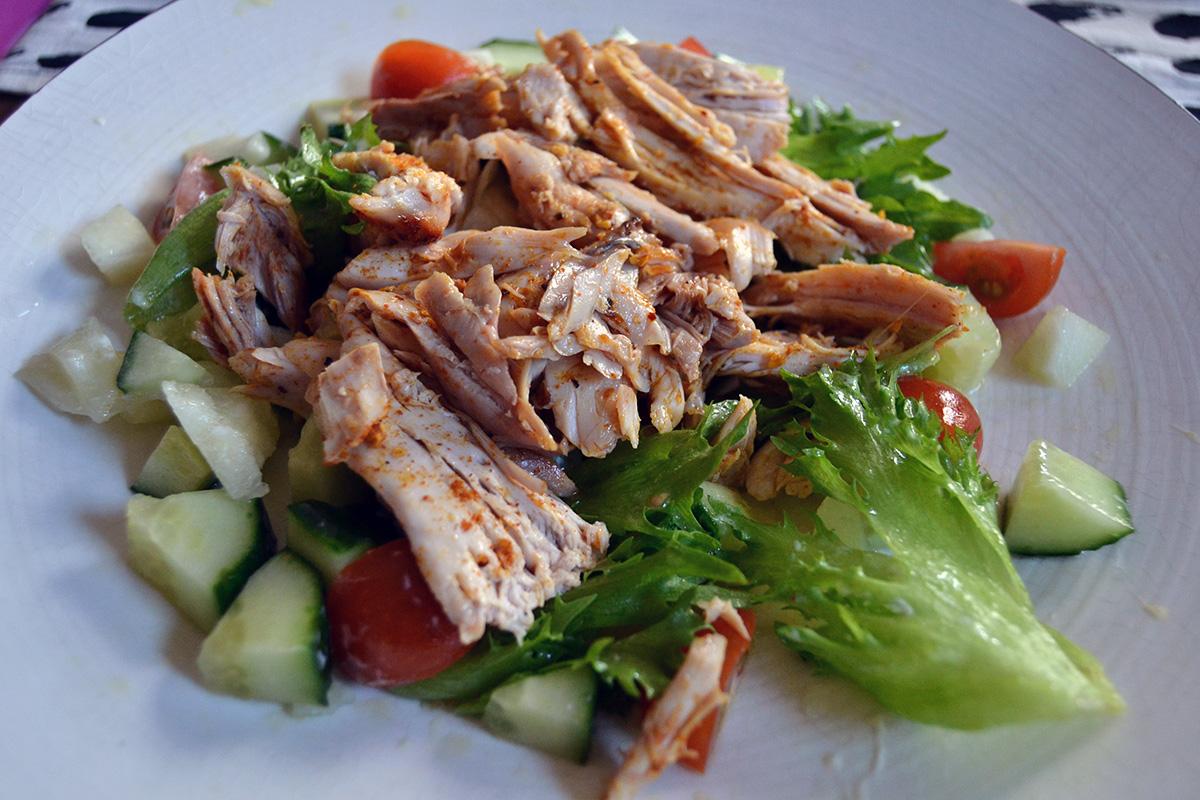 Nygrillad kyckling till lunch