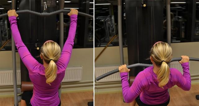 latsdrag bra maskiner på gymmet