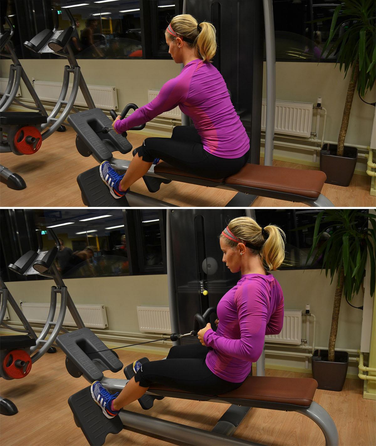övningar på gymmet