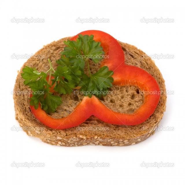 Ohälsosam smörgås