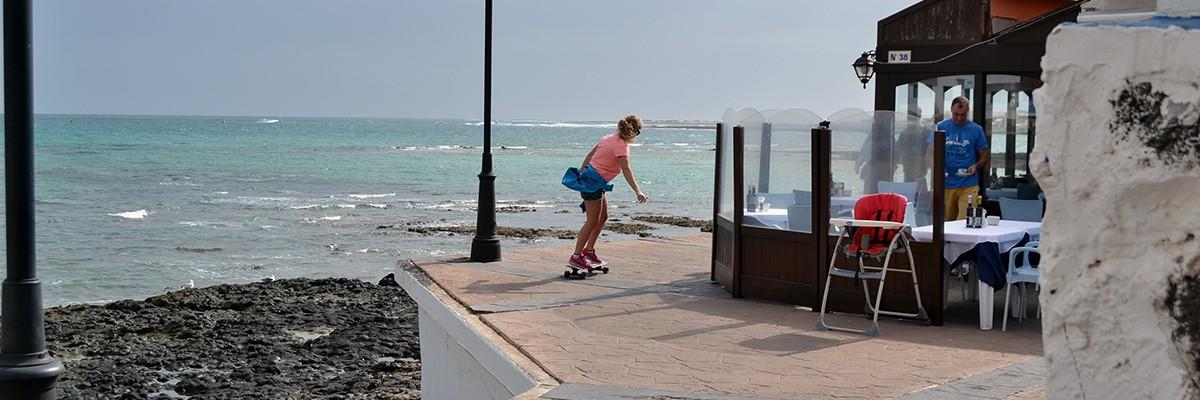 Longboarding och kitesurfing på Fuerteventura
