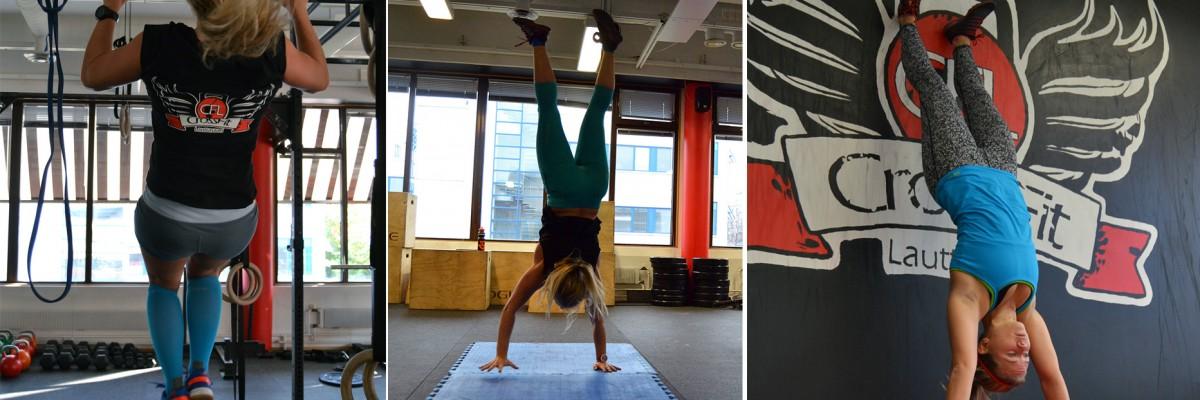 Vilovecka med gymnastisk träning
