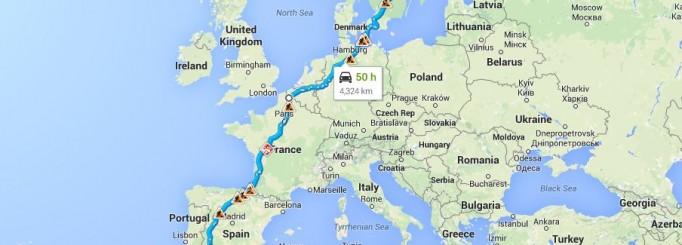 Packar för en roadtrip till Spanien