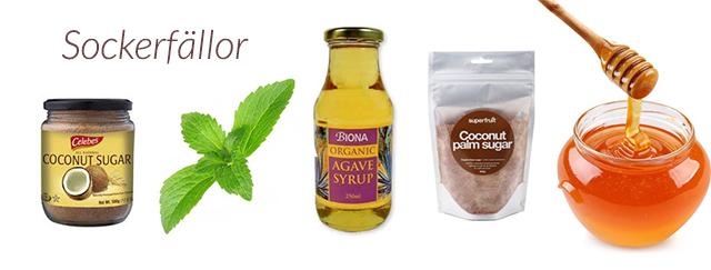 hur mycket stevia istället för socker
