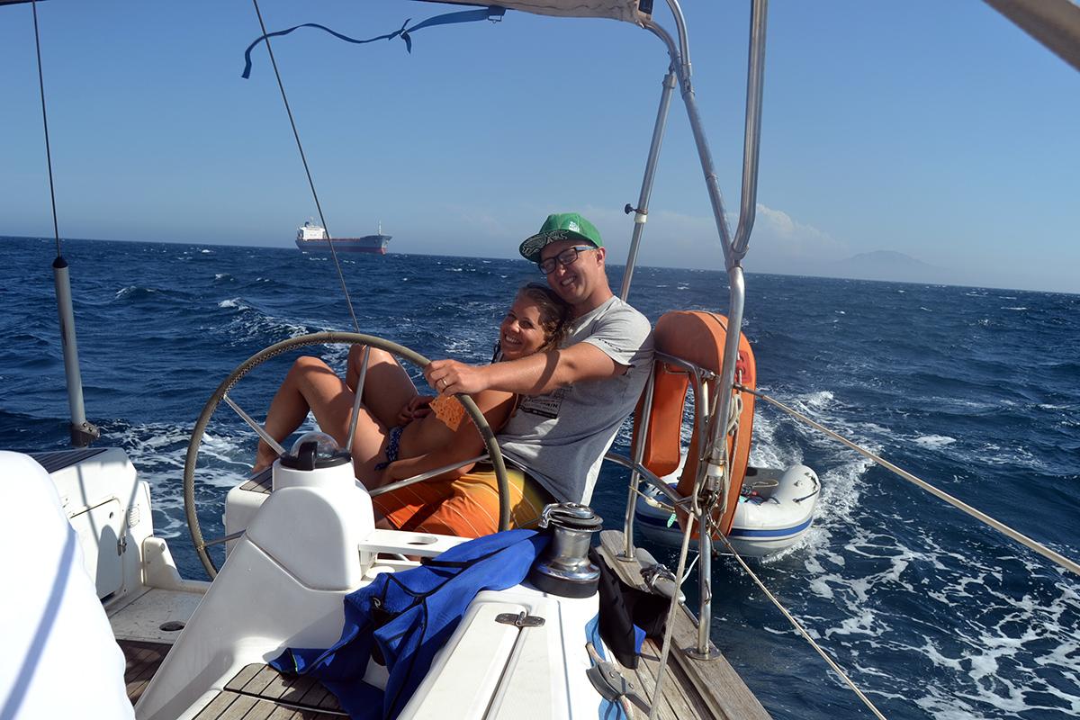 En härlig lördag ute till havs