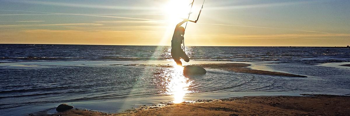 Kitesurfing vid Ohtakari