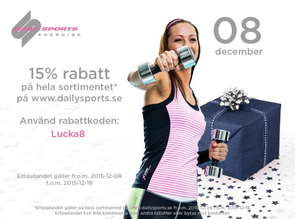 Lucka 8: Rabatt på träningskläder