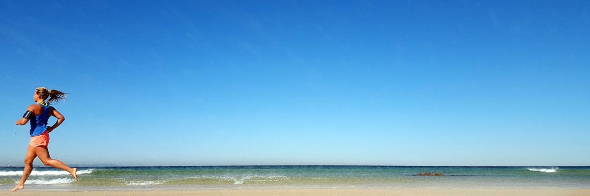 löpning strand