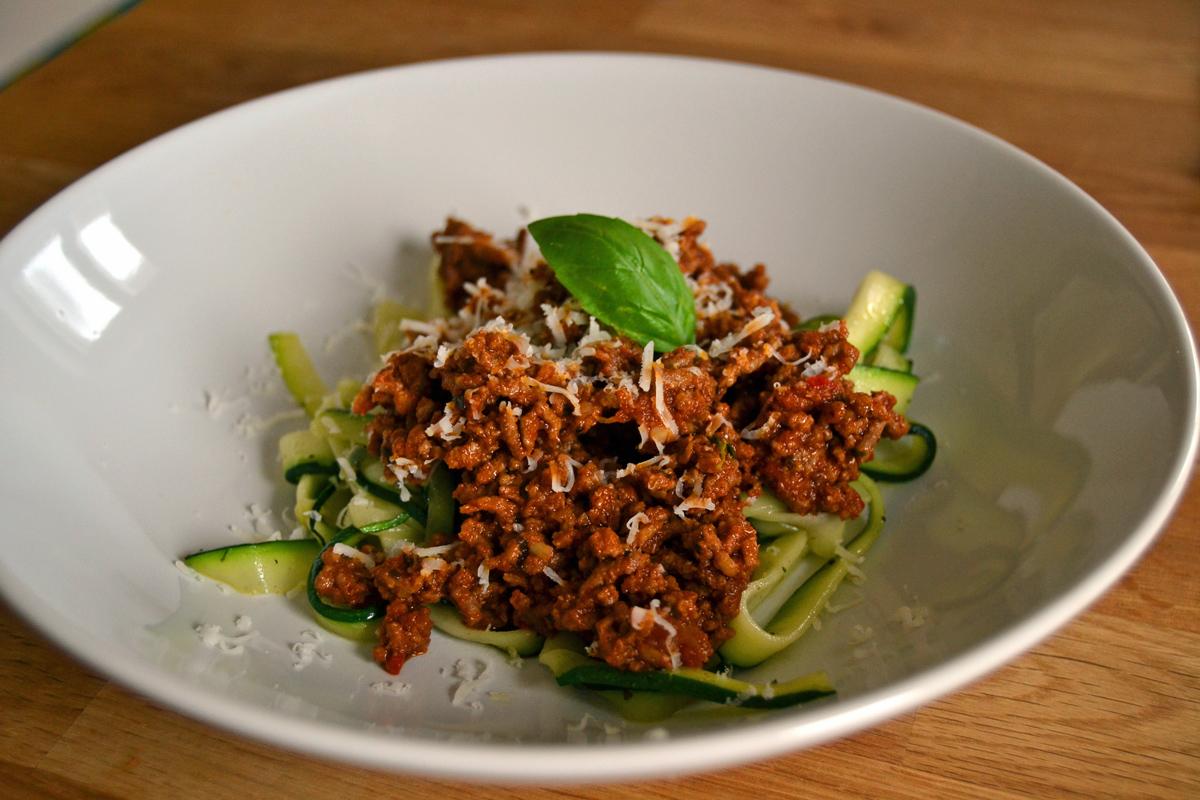 maletköttsås med zucchini