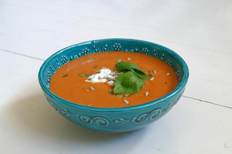 God tomat-getostsoppa – som du blir mätt på