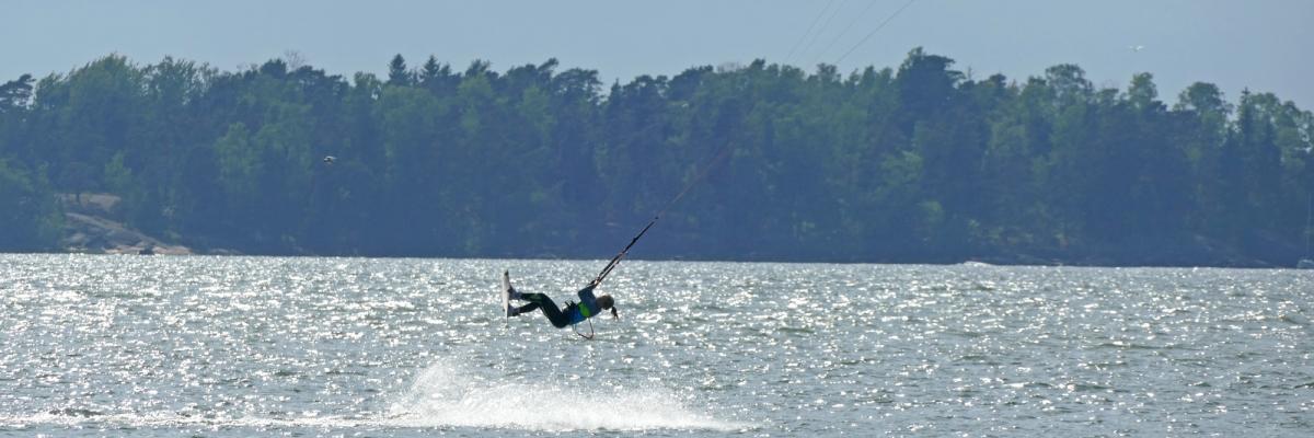 Kitesurfing på min härliga hemmaspot